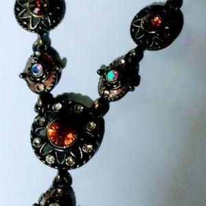 Jewelry - Brown/Auburn Necklace w/Opal & Amber like stones